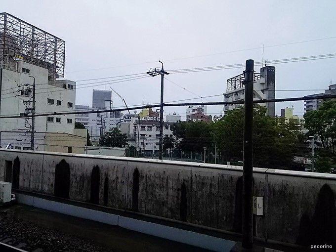 JR尾頭橋駅から八幡園遊郭跡方向を見る